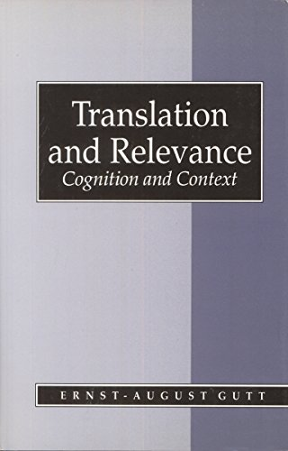 9780631178576: Translation and Relevance: Cognition and Context