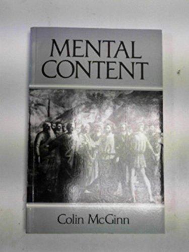 9780631180296: Mental Content
