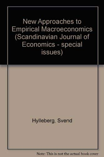 New Approaches to Empirical Macroeconomics (