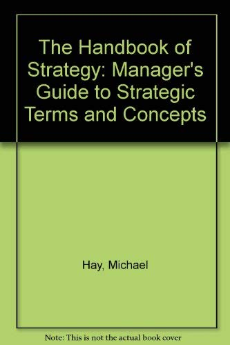 Handbook of Strategy (063118208X) by Michael Hay; Peter Williamson
