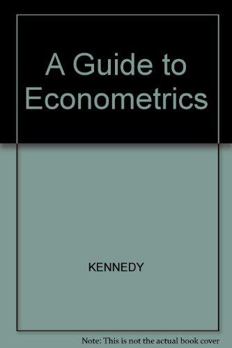 9780631182092: A Guide to Econometrics