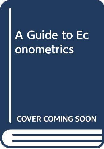 9780631182115: A Guide to Econometrics