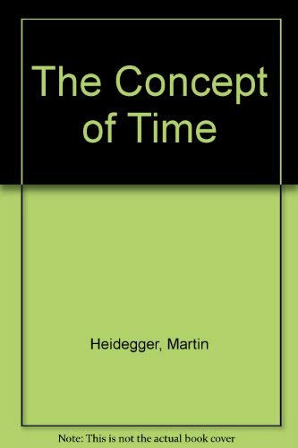 9780631182160: The Concept of Time