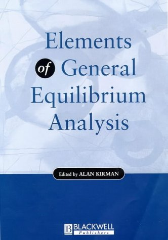 9780631182917: Elements of General Equilibrium Analysis