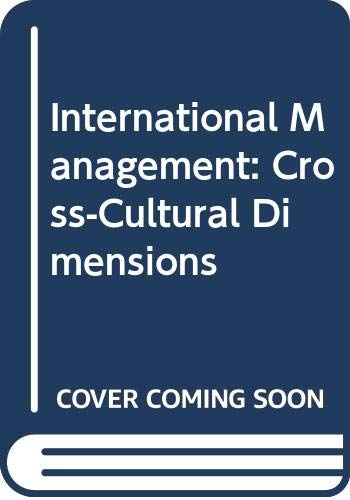 9780631183686: International Management: Cross-Cultural Dimensions