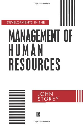 9780631183976: Developments in the Management of Human Resources: An Analytical Review (Warwick studies in industrial relations)