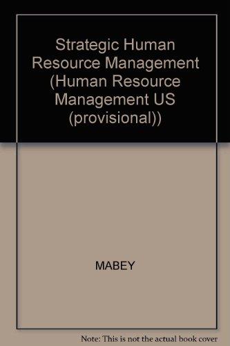 9780631185048: Strategic Human Resource Management