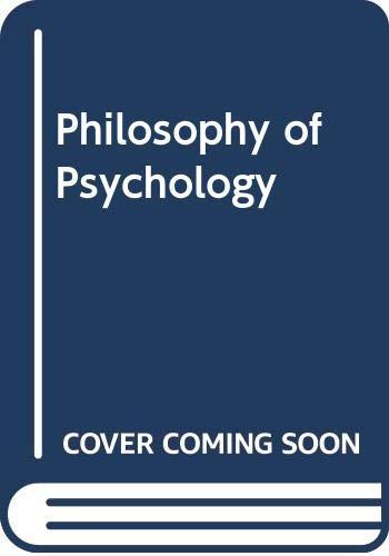 9780631185420: Philosophy of Psychology