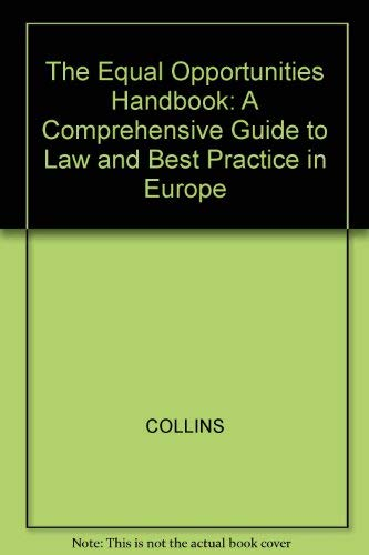 9780631186489: The Equal Opportunities Handbook: A Guide to Law and Best Practice in Europe