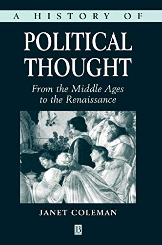 9780631186526: A History of Political Thought: From the Middle Ages to the Renaissance