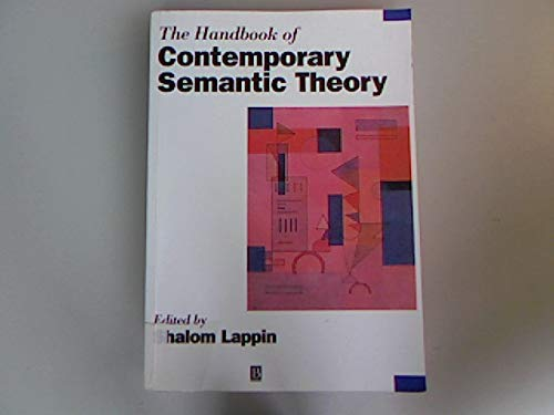 The Handbook of Contemporary Semantic Theory.: Lappin, Shalom [Ed.]: