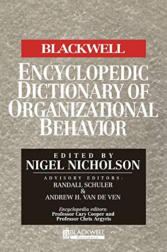 9780631187813: The Blackwell Encyclopedia of Management and Encyclopedic Dictionaries, The Blackwell Encyclopedic Dictionary of Organizational Behavior