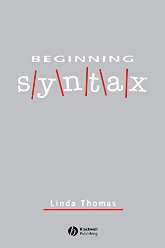 9780631188261: Beginning Syntax