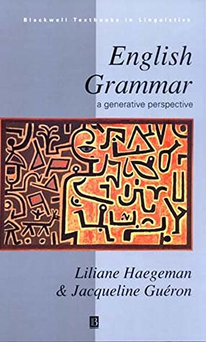 9780631188384: English Grammar: A Generative Perspective (Blackwell Textbooks in Linguistics)
