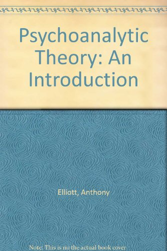 9780631188469: Psychoanalytic Theory: An Introduction