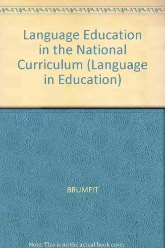 9780631188995: Language Education in the National Curriculum (Language in Education)