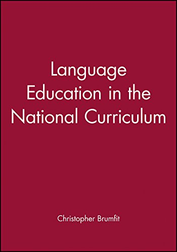 9780631189015: Language Education in the National Curriculum