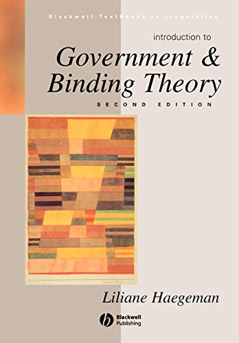 9780631190677: Introduction to Government and Binding Theory