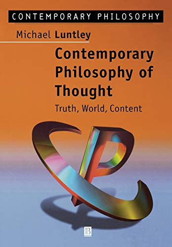 9780631190776: Contemporary Philosophy of Thought