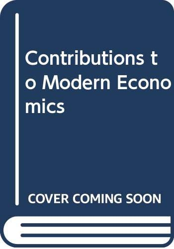 9780631192107: Contributions to Modern Economics