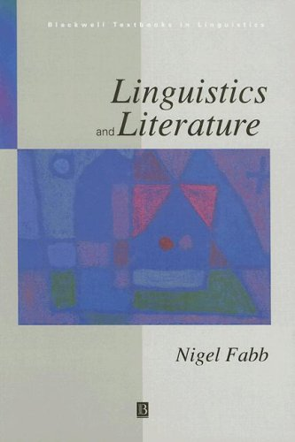 9780631192428: Linguistics and Literature (Blackwell Textbooks in Linguistics)