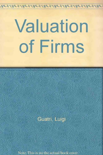9780631192473: The Valuation of Firms