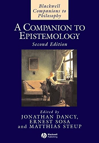 9780631192589: Companion to Epistemology (Blackwell Companions to Philosophy)