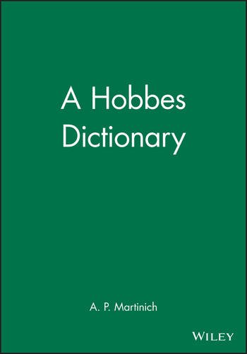 9780631192619: A Hobbes Dictionary (Blackwell Philosopher Dictionaries)