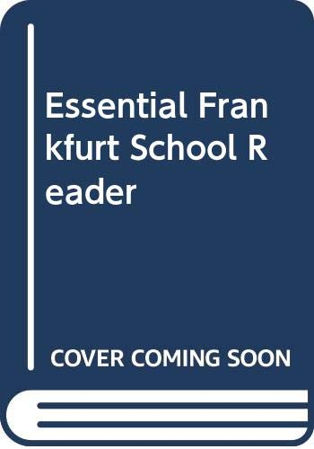 9780631192800: Essential Frankfurt School Reader