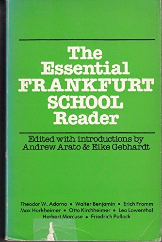 9780631192909: Essential Frankfurt School Reader