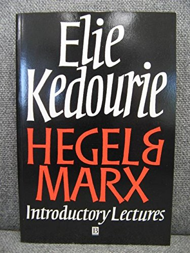 9780631193234: Hegel and Marx: Introductory Lectures