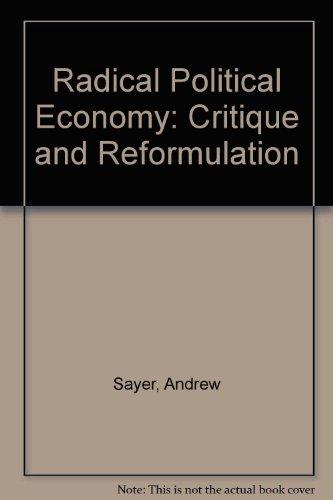 9780631193746: Radical Political Economy: A Critique