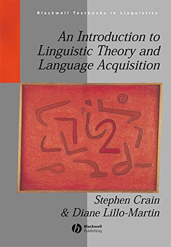 9780631195368: An Introduction to Linguistic Theory and Language Acquisition