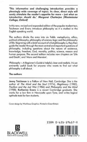 9780631196174: Philosophy: A Beginner's Guide