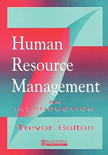 Human Resource Management: An Introduction (BSS): Trevor Bolton