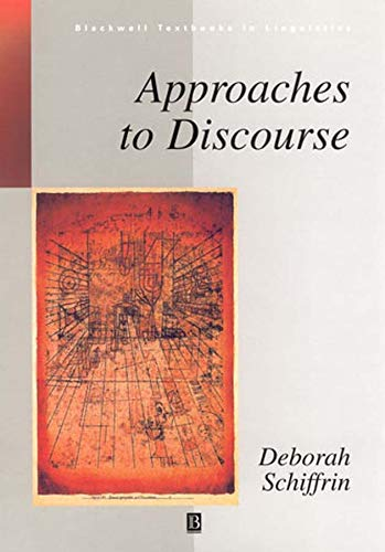 9780631196488: Approaches to Discourse (Blackwell Textbooks in Linguistics)