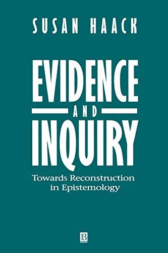 9780631196792: Evidence Inquiry: Towards Reconstruction in Epistemology
