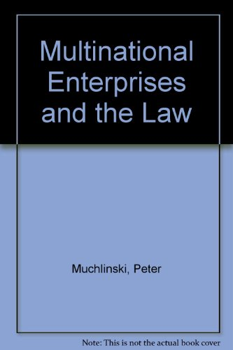 9780631197850: Multinational Enterprises and the Law