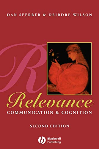 9780631198789: Relevance 2e: Communication and Cognition
