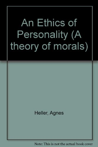 9780631198895: An Ethics of Personality