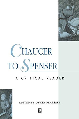 9780631199373: Chaucer to Spenser: A Critical Reader (Blackwell Critical Reader)