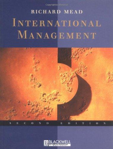 International Management: Cross-Cultural Dimensions: Richard Mead