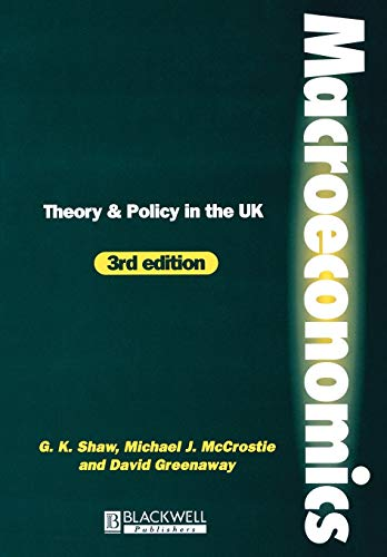 9780631200192: Macroeconomics: Theory and Policy in the UK