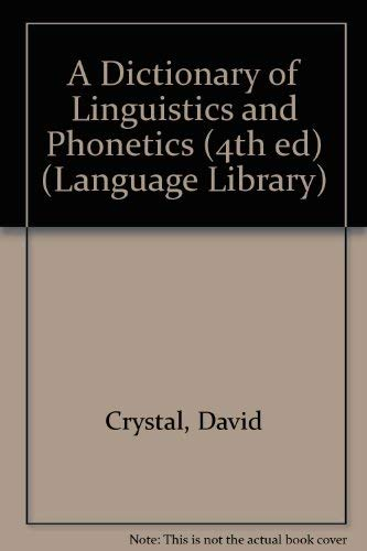 9780631200963: A Dictionary of Linguistics and Phonetics (The Language Library)