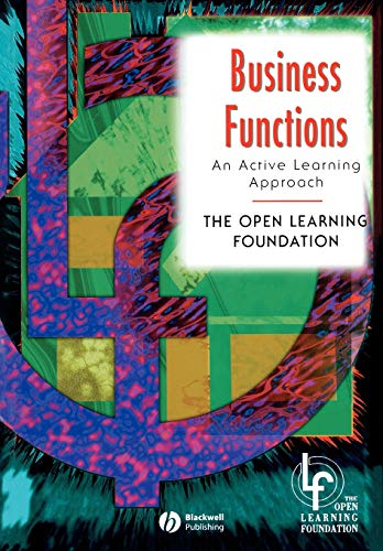 9780631201779: Business Functions: An Active Learning Approach (Open Learning Foundation)