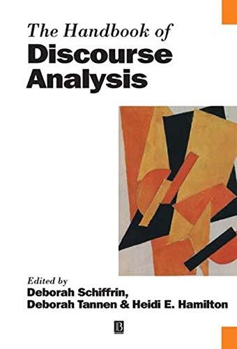 9780631205951: The Handbook of Discourse Analysis (Blackwell Handbooks in Linguistics)