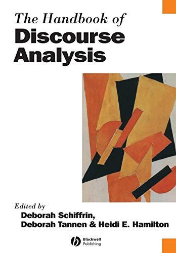 9780631205968: The Handbook of Discourse Analysis