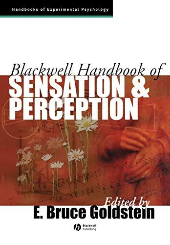 9780631206842: Sensation Perception (Blackwell Handbooks of Experimental Psychology)