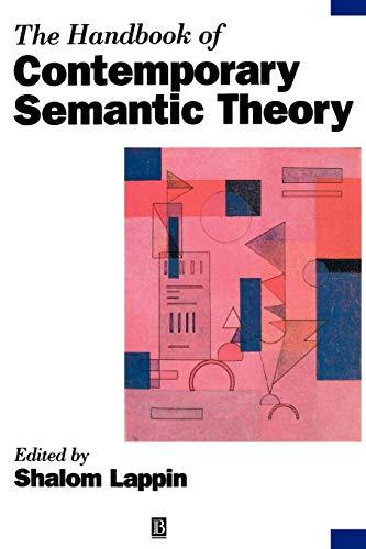 Handbook of Contemporary Semantic Theory (Blackwell Handbooks: Lappin, Shalom