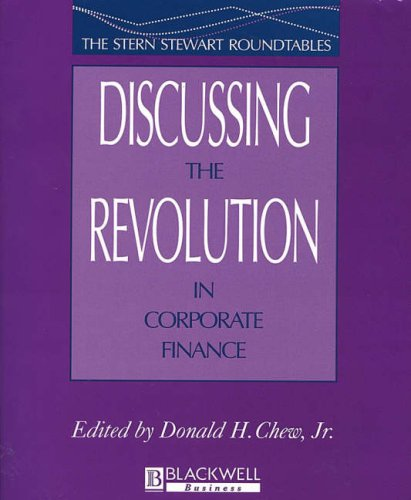 9780631208228: Discussing the Revolution in Corporate Finance (Blackwell Business)